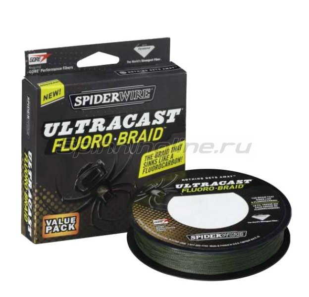 Spiderwire - Шнур Fluoro-Braid 110м 0,10мм Green - фотография 1