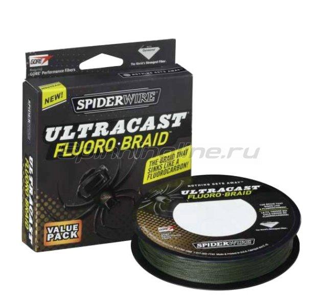 Spiderwire - Шнур Fluoro-Braid 110м 0,12мм Green - фотография 1