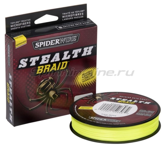 Шнур Spiderwire Stealth 137м 0,12 Yellow -  1