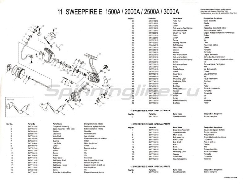 Daiwa - Катушка Sweepfire E 2000A - фотография 4