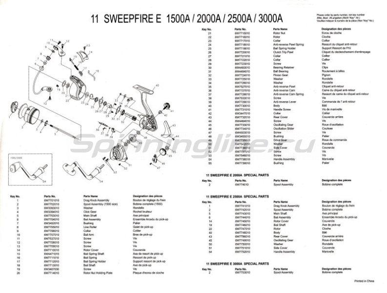 Катушка Sweepfire E 3000A -  3