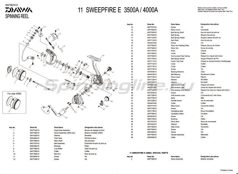 Daiwa - Катушка Sweepfire E 3500A - фотография 2