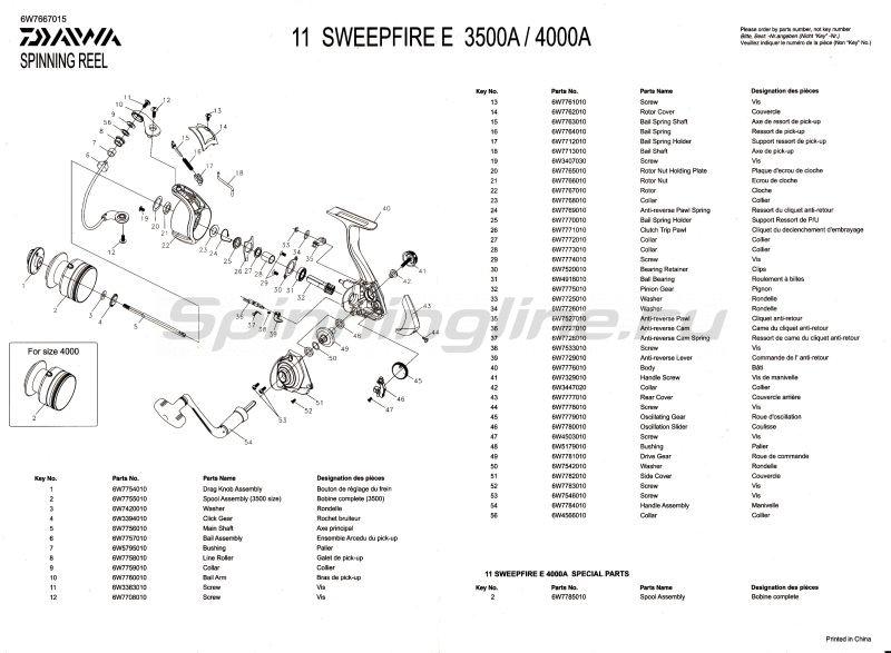 Daiwa - Катушка Sweepfire E 4000A - фотография 2
