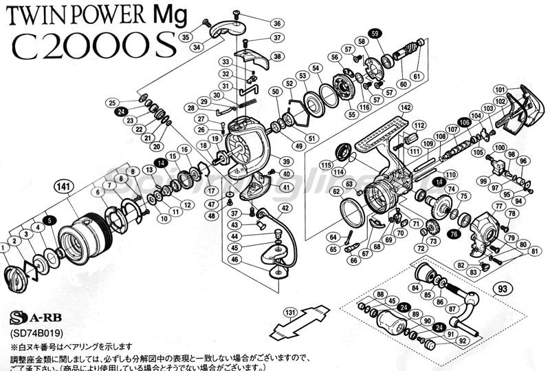 Shimano - ������� Twin Power Mg C2000S - ���������� 2
