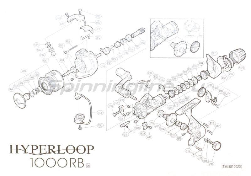 Shimano - Катушка Hyperloop 1000 RB - фотография 5