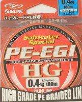 Шнур PE Egi HG 180м 0.4