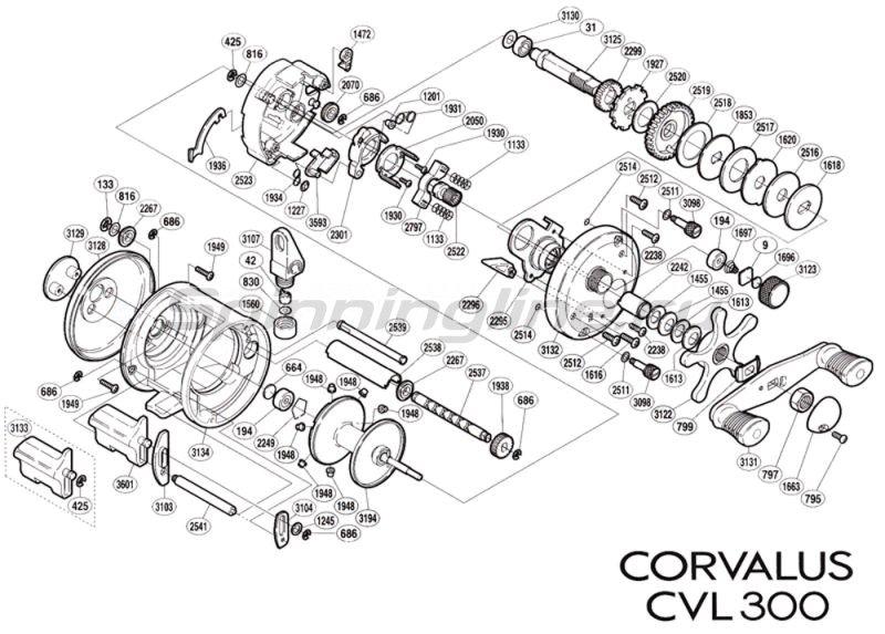 Катушка Corvalus 300 RH -  5
