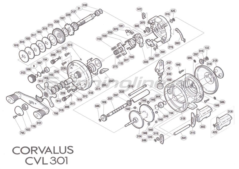 Shimano - Катушка Corvalus 301 LH - фотография 5