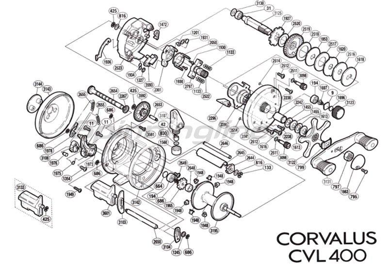 Катушка Corvalus 400 RH -  2