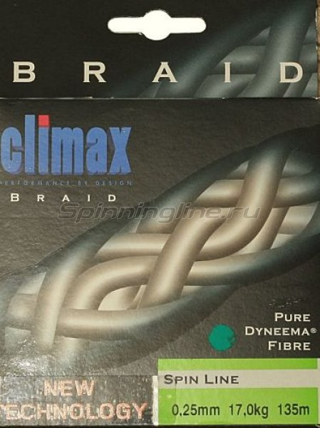 Climax - Шнур Spin Line Braided Rund 135м 0.25мм - фотография 1