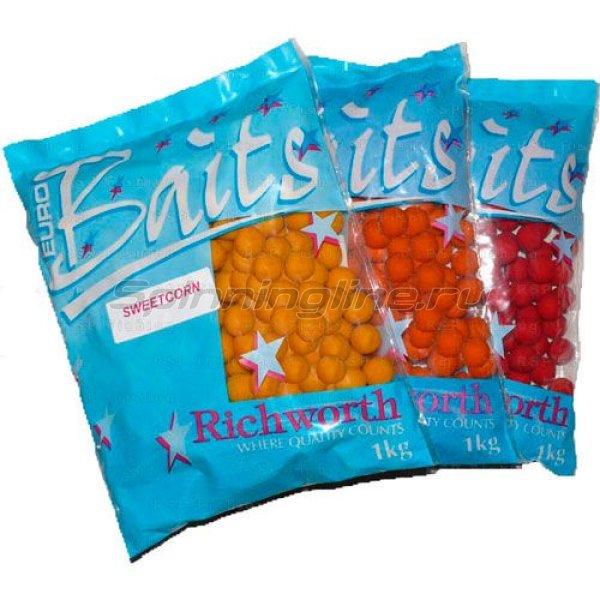 Richworth - Бойлы Euroboilies 20мм 1 кг Cranberry (клюква) - фотография 1