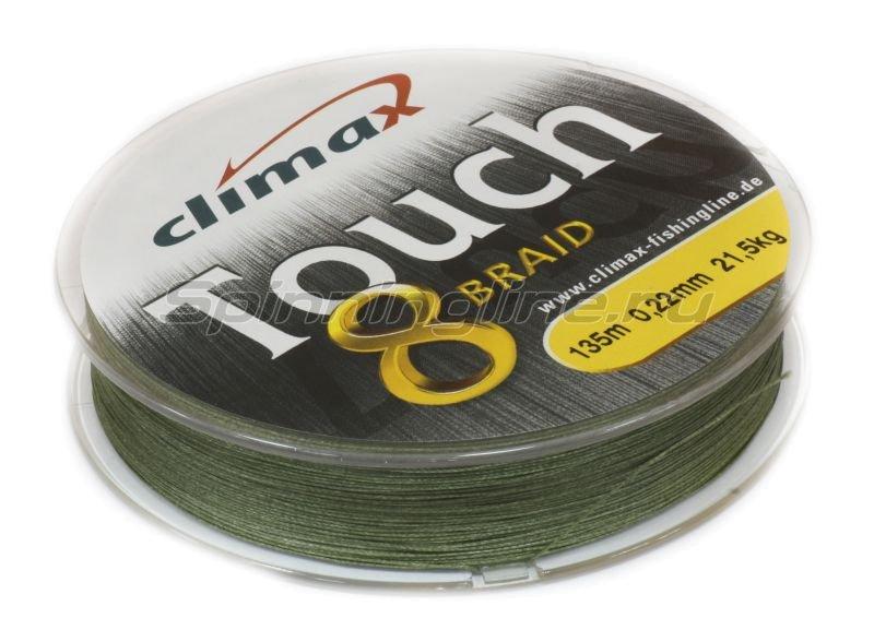 Шнур Touch 8 Braid 135м 0,25мм зеленый -  2