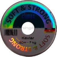 Поводковый материал Climax Kevlar 50м, 15кг (зеленый)