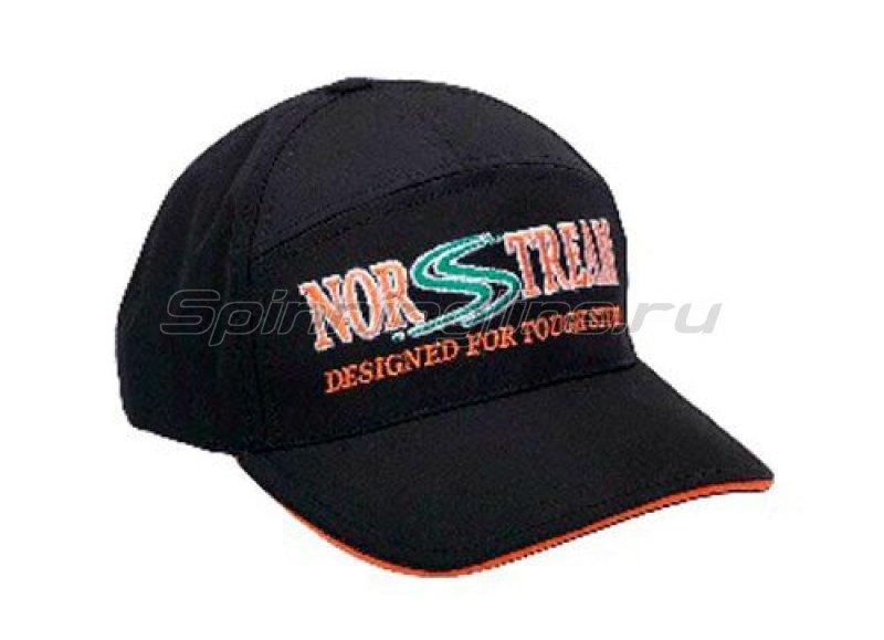 Кепка с логотипом Norstream черный/оранжевый - фотография 1