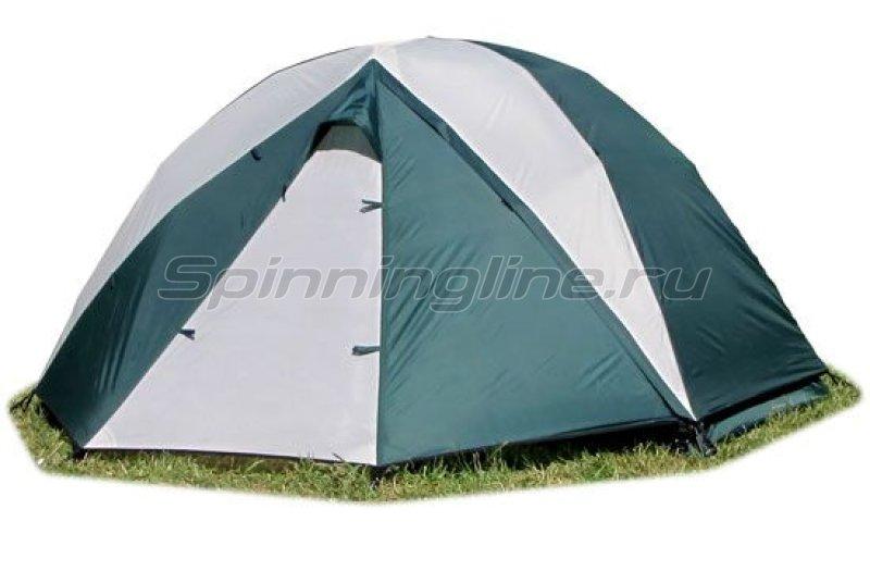 Палатка туристическая быстросборная Bike 2 цвет зеленый-св. серый -  1