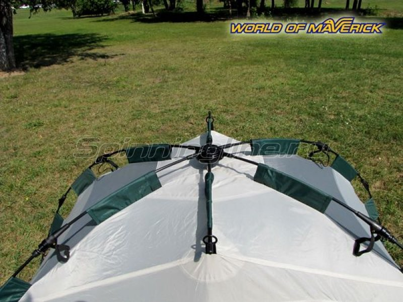 Палатка туристическая быстросборная Bike 2 цвет зеленый-св. серый -  4