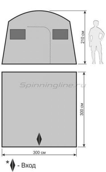 Быстросборная туристическая баня Sauna Tent -  2