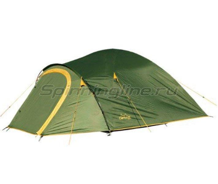 Campus - Палатка туристическая Beziers 4 (khaki 517/ yellow 409) - фотография 1