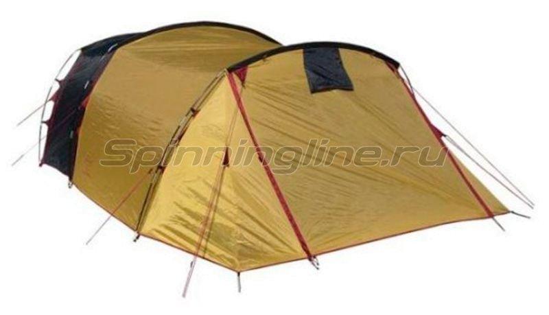 Campus - Палатка туристическая Faro 4 (stone beige 909/graphite 711/yellow 409) - фотография 1
