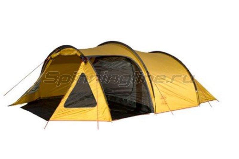 Campus - Палатка туристическая Monaco 4 (stone beige 909/graphite 711/yellow 409) - фотография 1