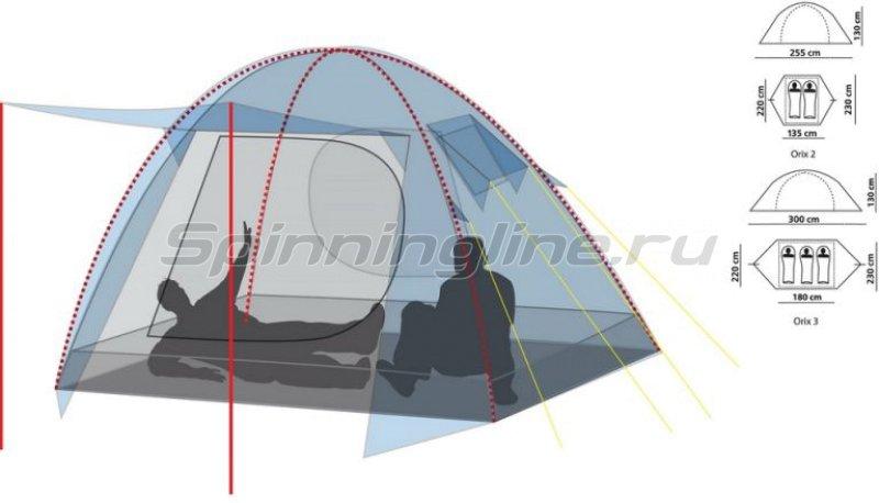 Палатка туристическая Orix 2 (цвет royal) -  2