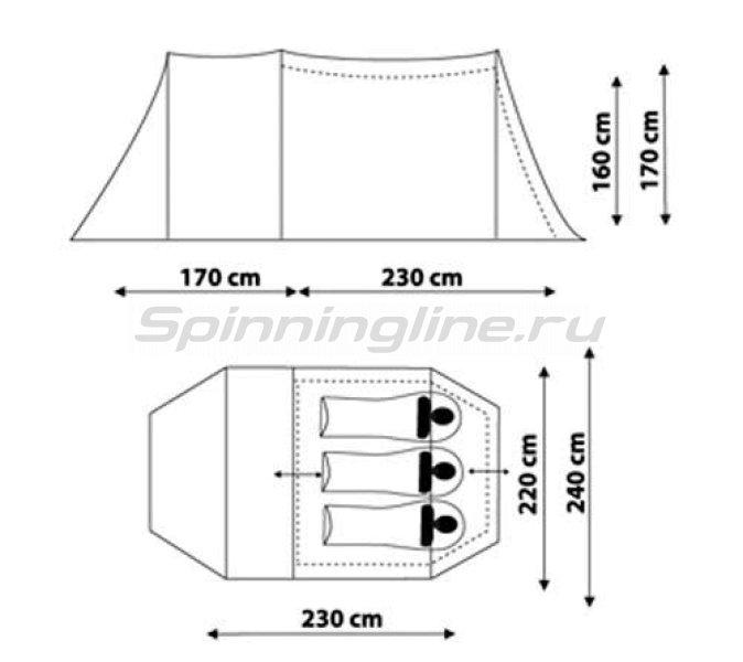 Canadian Camper - Палатка туристическая Tanga 3 (цвет woodland) - фотография 2