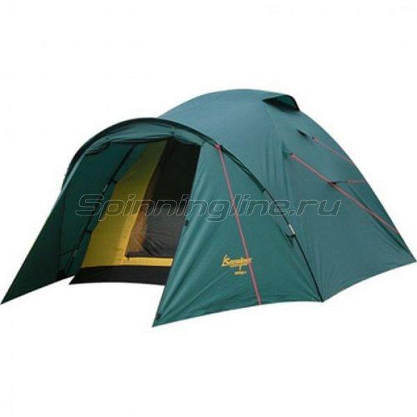 Палатка туристическая Karibu 4 (цвет woodland) -  1