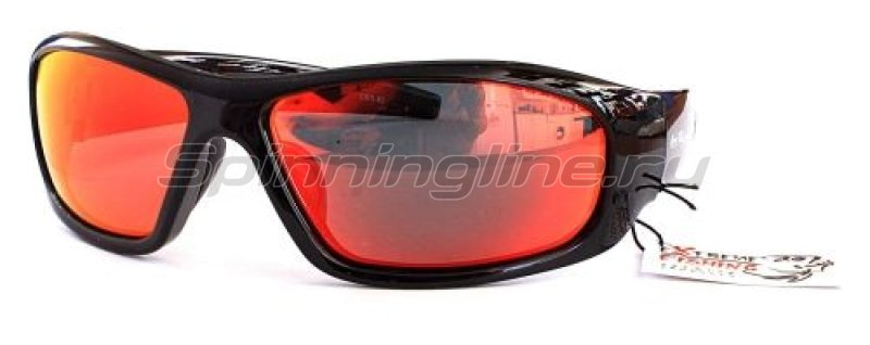 Очки Extreme Fishing Obsession OBS-82 Shiny Black-Red Mirror -  1