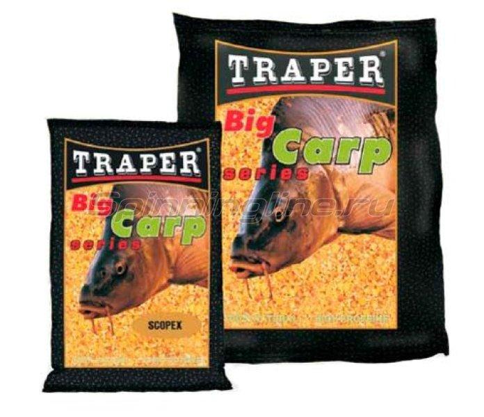 Прикормка Traper Big Carp Клубника 1кг -  1