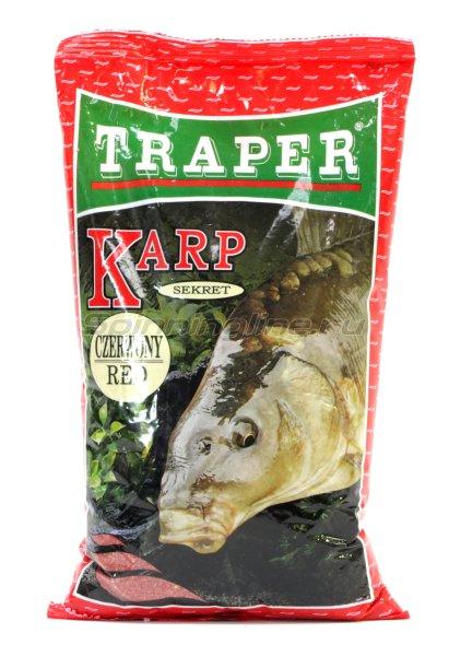 Прикормка Traper Sekret карп красная 1кг - фотография 1