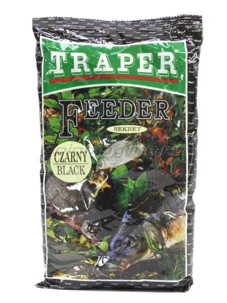 Прикормка Traper Sekret фидер черная 1кг -  1