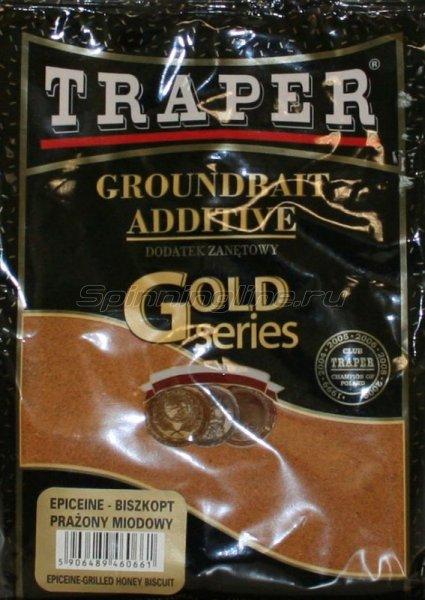 Traper - Добавка в прикорм Бисквит (красный) 0,4кг - фотография 1
