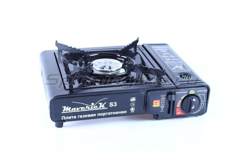 Газовая плита Maverick S-3 в кейсе цв.черный - фотография 1