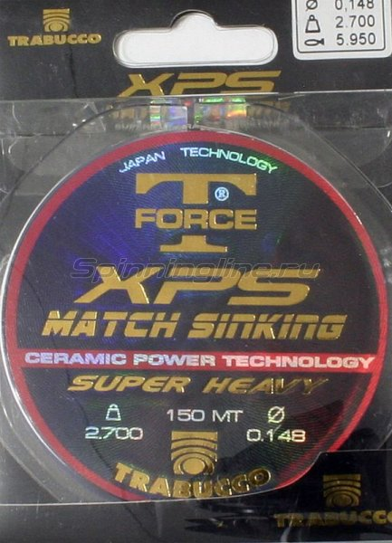 Trabucco - Леска T-Force XPS Match Sinking 150м 0, 255мм - фотография 1