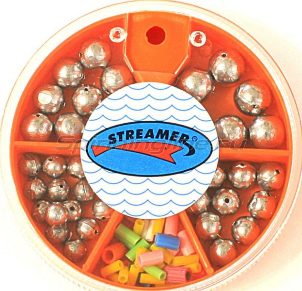 Набор грузил Streamer Шар сред. кор. 1.0-4.0гр - фотография 1