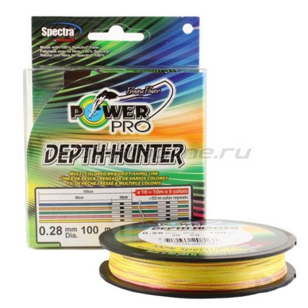 Шнур Depth Hunter Multicolor 1600м 0,15мм -  1