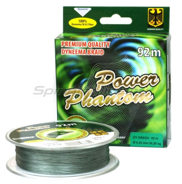 Шнур Power Phantom 4x 120м 0.36мм green - фотография 1