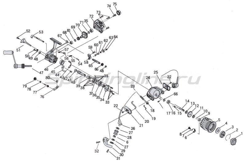 RYOBI - Катушка Zauber CF 4000 - фотография 8