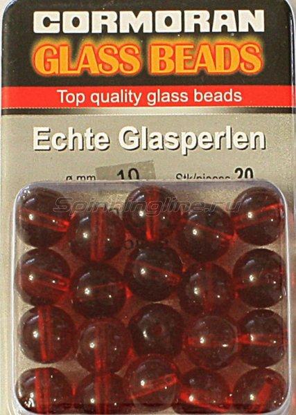 Шарики стеклянные Cormoran Glass Beads Red 10мм - фотография 2