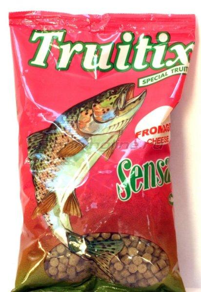 Пеллетс прикормочный Sensas Trutix green-cheese 0,5кг - фотография 1