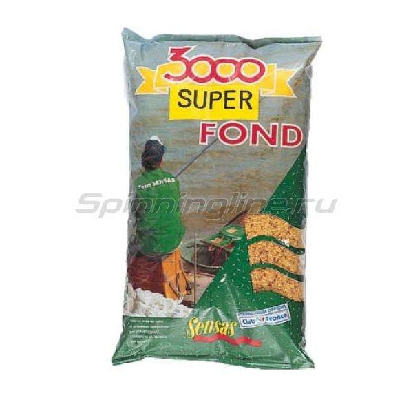 Прикормка Sensas 3000 Super Fond 1 кг -  1
