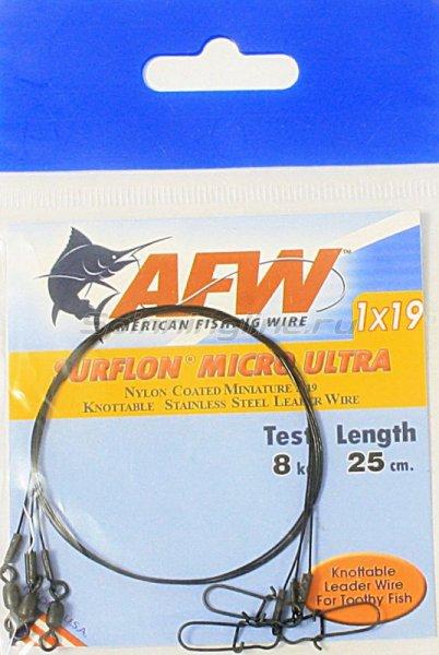 Поводок оснащенный AFW Surflon Micro Ultra 1*19 8кг-25см -  2