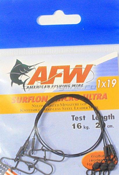 Поводок оснащенный AFW Surflon Micro Ultra 1*19 16кг-20см -  2