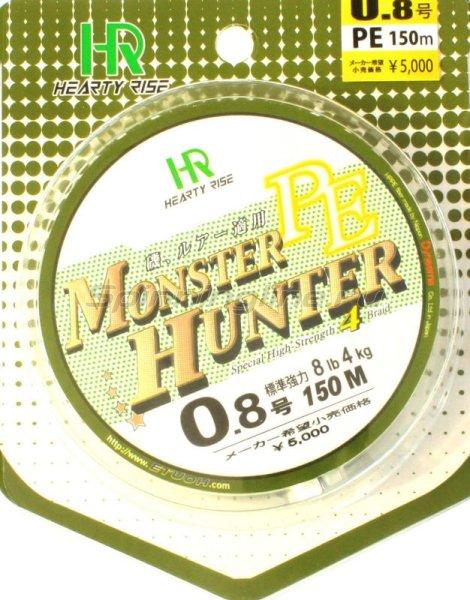 Hearty Rise - Шнур Monster Hunter PE 150м 2 зеленый - фотография 1