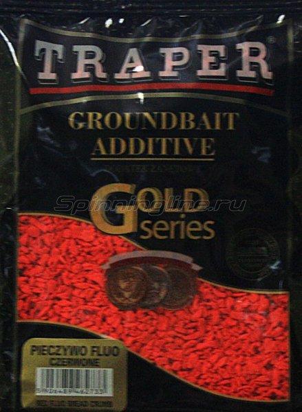 Traper - Добавка в прикорм Red fluo bread crumb (Красный сухарь флюо) 0,4кг - фотография 1