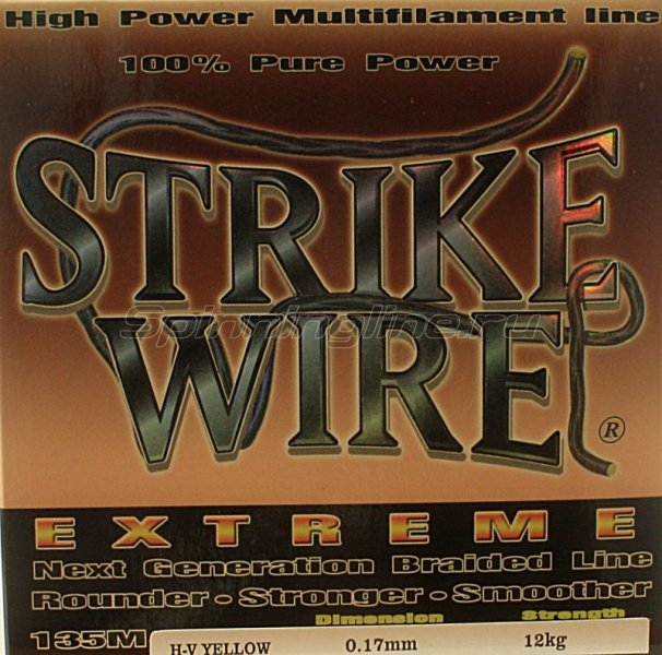 STRIKE PRO - Шнур Wire Extreme 135м 0.19мм yellow - фотография 1