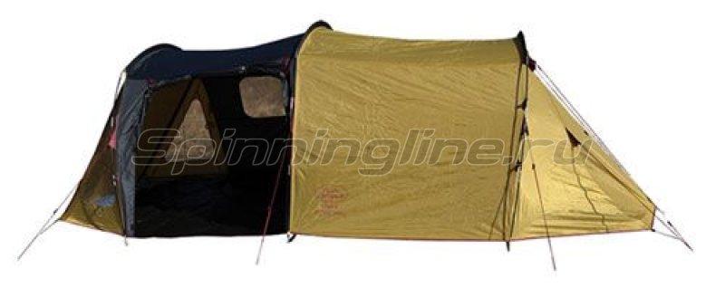 Campus - Палатка туристическая Faro 4 (olive 511/graphite 711/maroon 201) - фотография 1
