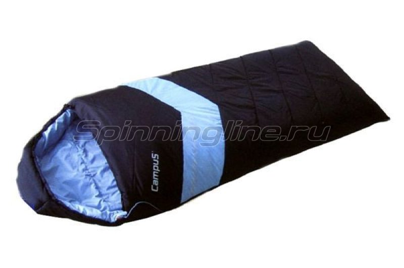 Campus - Спальный мешок Adventure 300SQ молния L (black 700/lt.blue 802) - фотография 1