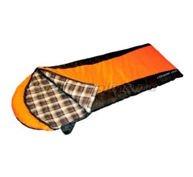 Campus - Спальный мешок Cougar 250 молния L(black 700/orange 300) - фотография 1