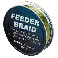 Шнур Feeder braid Olive Green 100м 0.14мм